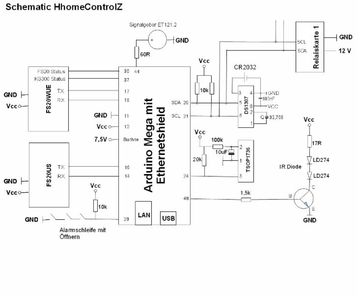 schaltplan hhomecontrolz hausteuerung mit arduino fs20. Black Bedroom Furniture Sets. Home Design Ideas